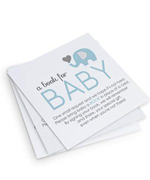 Blue Elephant Book for Baby Shower (25 Pack)