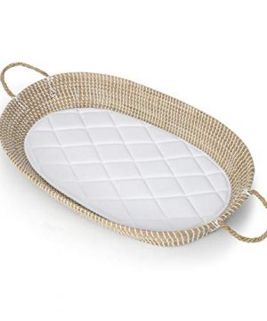Baby Diaper Changing Basket Tray Natural Seagrass