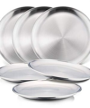 6-Piece 18/8 Stainless Steel Plates, HaWare Metal