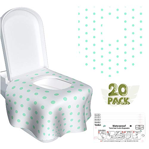 Toilet Seat Covers Disposable - 20 Pack Individually