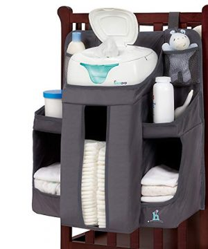 hiccapop Hanging Diaper Organizer for Changing Table and Crib
