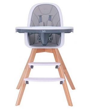Baby High Chair with Double Removable Tray