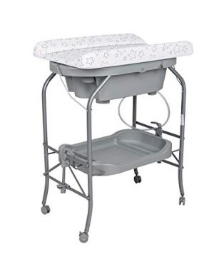 2 in 1 Baby Diaper Changing Table w/Wheels