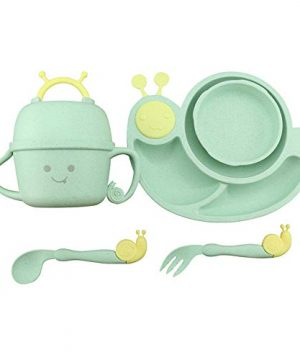 6 Piece Toddler Plates and Bowls Set,Dinnerware for Kids