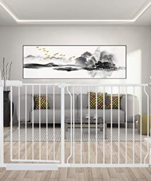 ALLAIBB Extra Wide Pressure Mounted Baby Gate