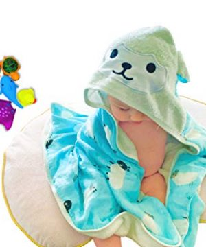 Baby Hooded Towel Gift Set with Cute Bath Toys