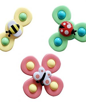 Animal Flower Creative Baby Bath Baby Suction Cup Spinning Top Toy