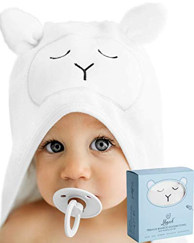 Premium Bamboo Hooded Baby Towel - Ultra Soft
