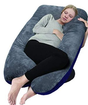 COMHO Full Body Pregnancy Pillow, U Shaped Maternity Pillow