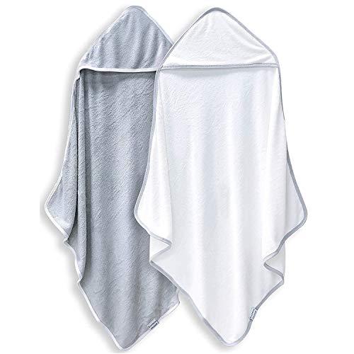 2 Pack Premium Bamboo Baby Bath Towel