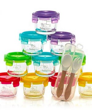 Glass Baby Food Containers with BPA-Free Locking Lids,