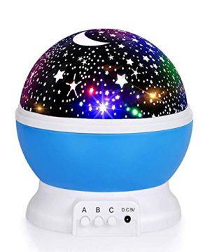 Baby Night Light Moon Star Projector 360 Degree Rotation