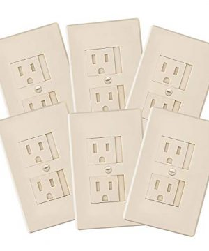 6-Pack Self-Closing Babyproof Outlet Covers