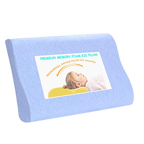 Toddler Pillow-Small Contour Memory Foam Neck Pillows for Sleeping
