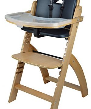 Abiie Beyond Wooden High Chair with Tray.