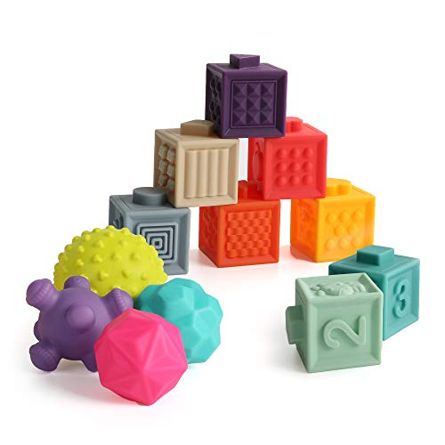 TILLYOU Baby Blocks 6 to 12 Months Soft