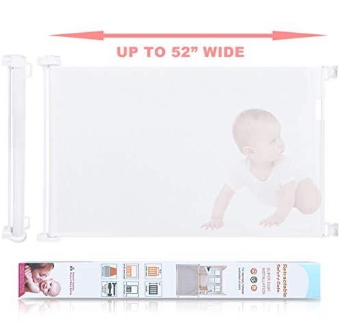 Retractable Baby Safety Gate, HiCanwn Indoor Outdoor