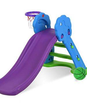 Uenjoy Toddler Slide - Kids Freestanding Slide