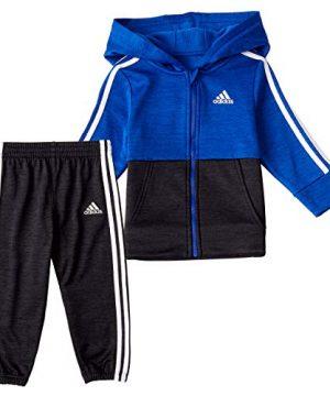 adidas Baby Boys' Li'l Sport Fleece Zip Front Hoodie
