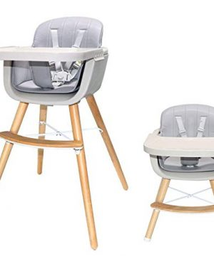 Asunflower High Chair with Cover Baby Dining Chair Wood