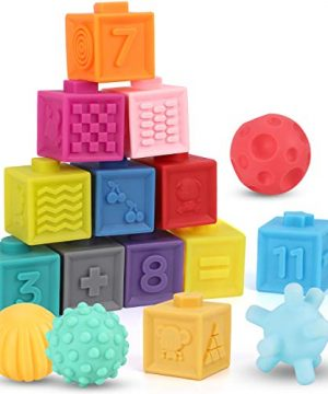 Baby Blocks Toys Early Learning Building Blocks Ball Set Teethers