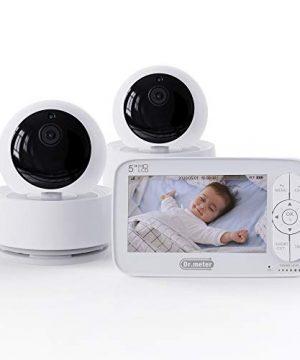 "Baby Monitor, Dr.meter 5"" 720P Large HD Display Baby Monitor"