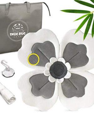 Baby Bath Flower Sink Insert - Soft Gray Blooming Flower