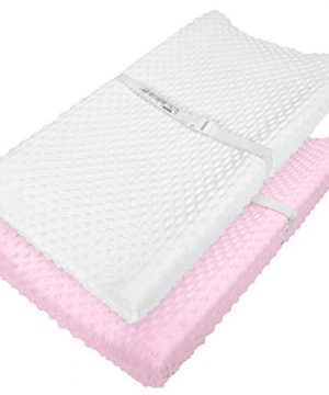 TILLYOU Minky Dot Changing Pad Covers Warm