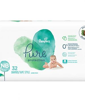 Diapers Newborn/Size 1 (8-14 lb), 32 Count - Pampers Pure Protection