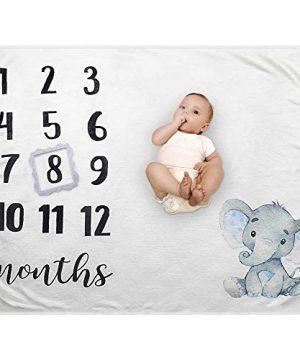 Baby Monthly Milestone Blanket - Organic Plush Fleece