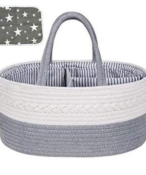 Baby Diaper Caddy Organizer   with Waterproof Changing Pad