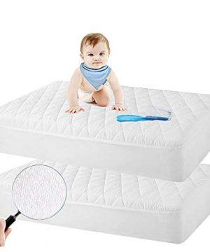 2 Pack Crib Mattress Protector, Toddler Waterproof