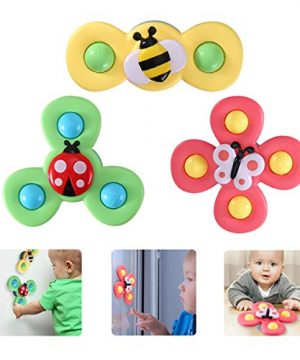 Suction Cup Spinning Top Toy, 3Pcs Baby Bath Toys