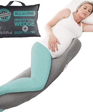 2 in1 Pregnancy Pillows, Chiro Designed Maternity Pillow with 100% Cotton Cover