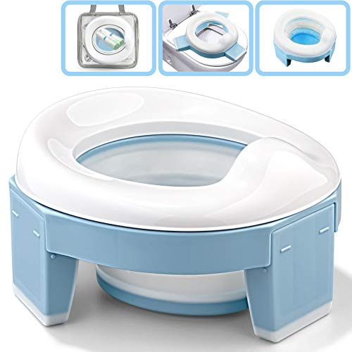 Portable Potty Seat for Toddler, Travel Potty Chair Foldable