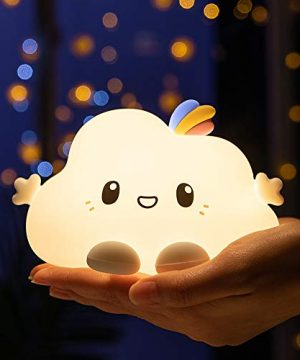 Cute Bright Cloud Infant Night Light, Portable Battery