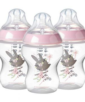 Anti-Colic Valve Baby Bottle Decorated Pink