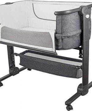 Bedside Sleeper for Baby Easy Folding Portable Crib