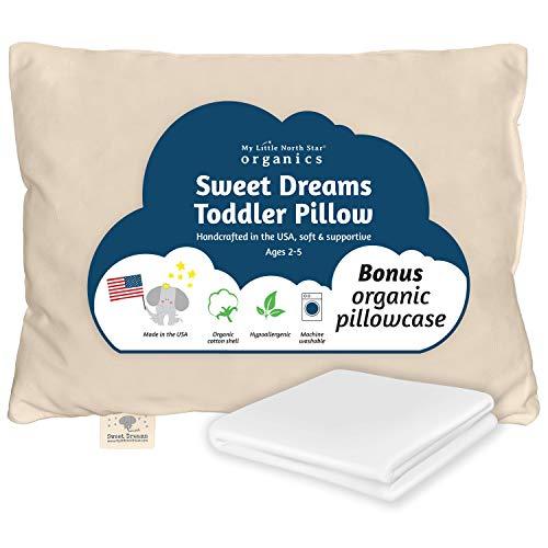 Organic Toddler Pillow, Pillowcase, Pillow Made in USA