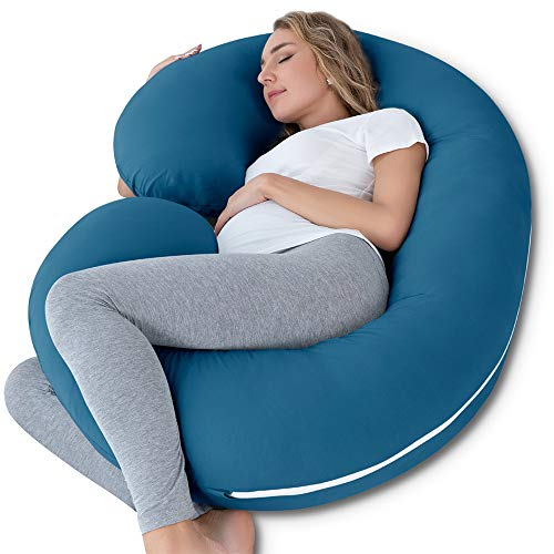INSEN Pregnancy Body Pillow with Jersey Cover