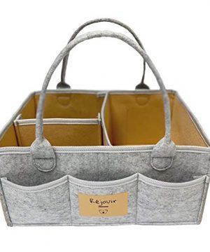 Baby Diaper Caddy Organizer: Large Organizer Tote Bag for Girl