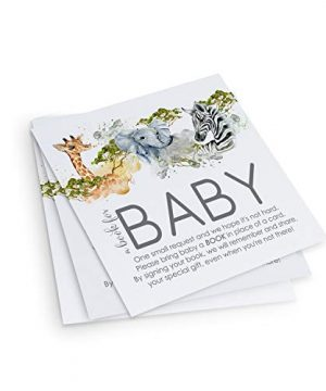 Jungle Bring a Book for Baby Shower (25 Pack)