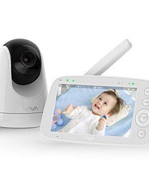 "Baby Monitor, VAVA 720P 5"" HD Display Video Baby Monitor"