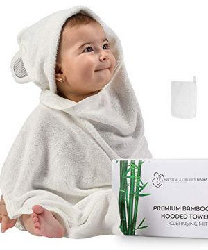 Bamboo Baby Hooded Towel and Organic Mitt Set