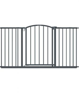 Summer Extra Wide Decor Safety Baby Gate, Gray