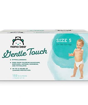Amazon Brand - Mama Bear Gentle Touch Diapers, Hypoallergenic