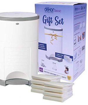 Dékor Classic Diaper Pail Gift Set – White