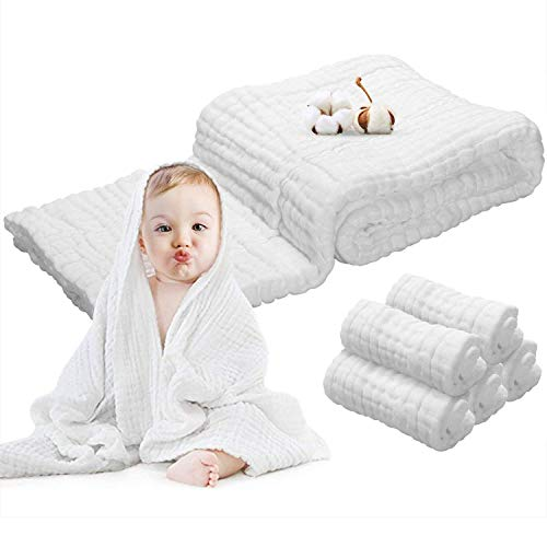 Baby Towels Muslin Washcloths Set