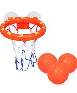 Bath Toys Bathtub Basketball Hoop Balls Set