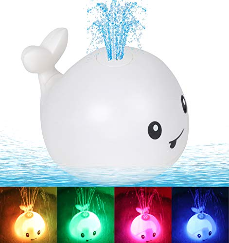 Leipal Baby Light Up Bath Tub Toys Whale Water Sprinkler